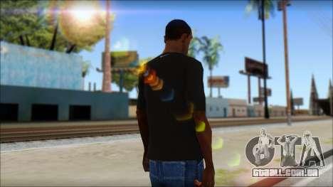 Kobie Shirt para GTA San Andreas segunda tela