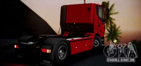 Iveco Stralis HI-ROAD para GTA San Andreas esquerda vista