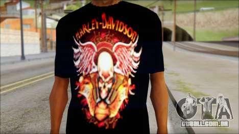 Harley Davidson Black T-Shirt para GTA San Andreas terceira tela