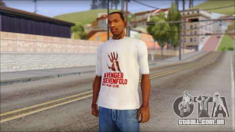 A7X Not Ready To Die Fan T-Shirt para GTA San Andreas