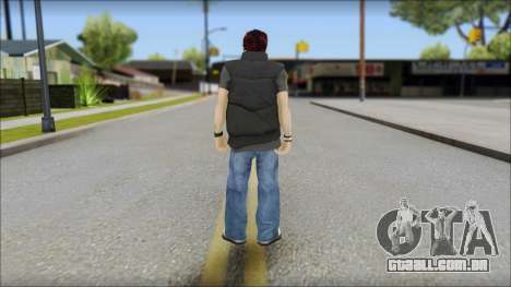 Paul from Good Charlotte para GTA San Andreas segunda tela