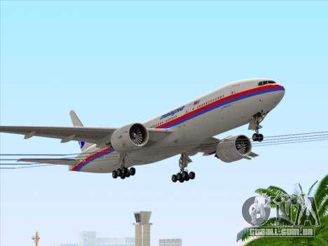Boeing 777-2H6ER Malaysia Airlines para GTA San Andreas interior