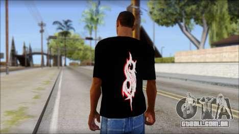 SlipKnoT T-Shirt v5 para GTA San Andreas segunda tela