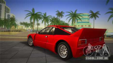 Lancia Rally 037 1982 para GTA Vice City deixou vista