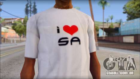 I Love SA T-Shirt para GTA San Andreas terceira tela