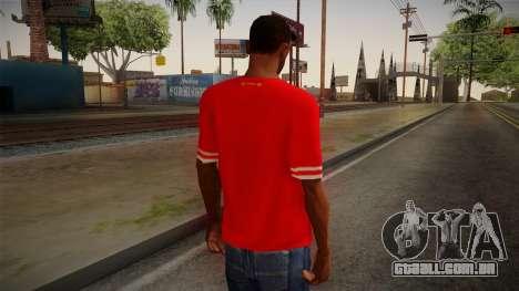 Liverpool FC 13-14 Kit T-Shirt para GTA San Andreas segunda tela