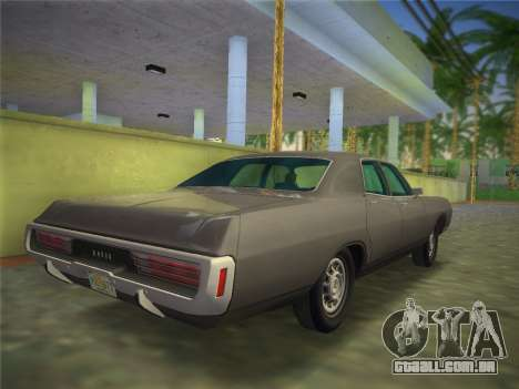 Dodge Polara 1971 para GTA Vice City deixou vista