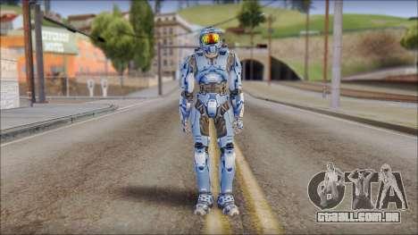 Masterchief Blue from Halo para GTA San Andreas segunda tela
