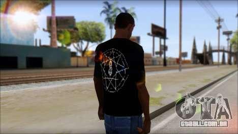 SlipKnoT T-Shirt v4 para GTA San Andreas segunda tela