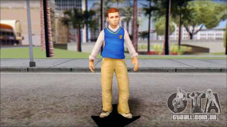 Petey from Bully Scholarship Edition para GTA San Andreas segunda tela