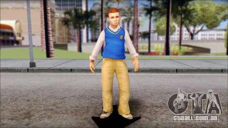 Petey from Bully Scholarship Edition para GTA San Andreas segunda tela