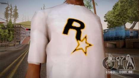 Rockstar Games Shirt para GTA San Andreas terceira tela
