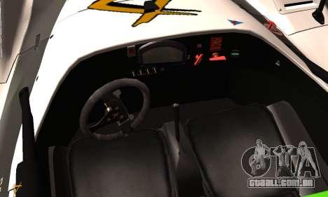 Radical SR8 Supersport 2010 para GTA San Andreas vista direita