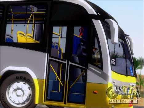 Neobus Mega BRT Volvo B12M-340M para vista lateral GTA San Andreas