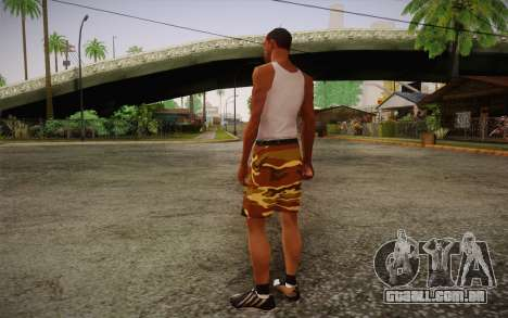 Camo Shorts Pants para GTA San Andreas segunda tela