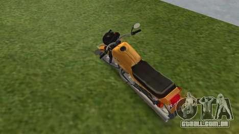 Jawa 638 para GTA Vice City vista traseira esquerda