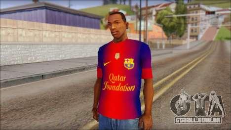 Barcelona Messi T-Shirt para GTA San Andreas