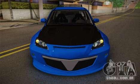 Mazda Speed 3 Tuning para GTA San Andreas vista interior
