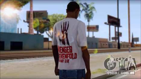 A7X Not Ready To Die Fan T-Shirt para GTA San Andreas segunda tela