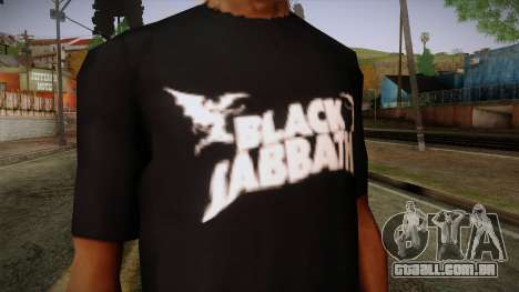 Black Sabbath T-Shirt para GTA San Andreas terceira tela