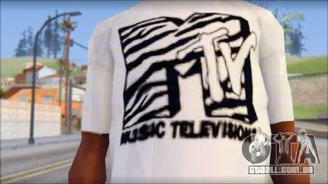 MTV T-Shirt para GTA San Andreas terceira tela