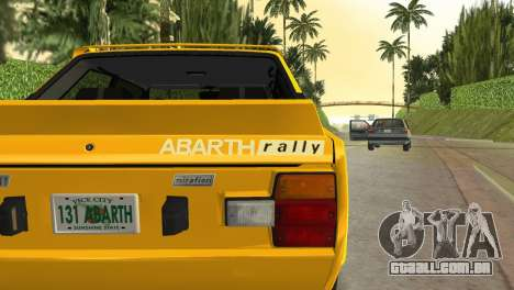 Fiat 131 Abarth Rally 1976 para GTA Vice City vista direita
