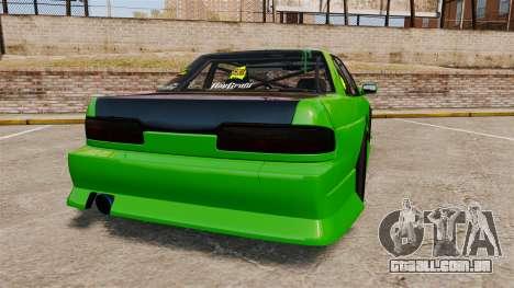 Nissan Silvia S13 para GTA 4 traseira esquerda vista