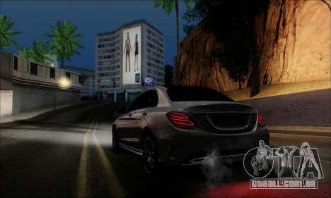 Mercedes-Benz C250 2014 V1.0 EU Plate para GTA San Andreas esquerda vista