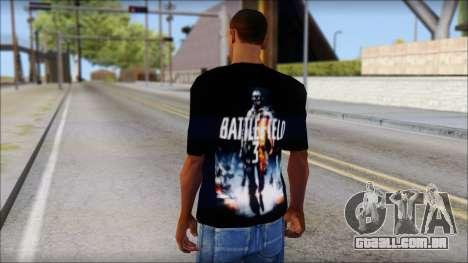 Battlefield 3 Fan Shirt para GTA San Andreas segunda tela