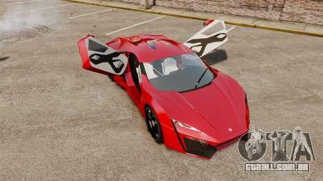 Lykan HyperSport para GTA 4 vista de volta