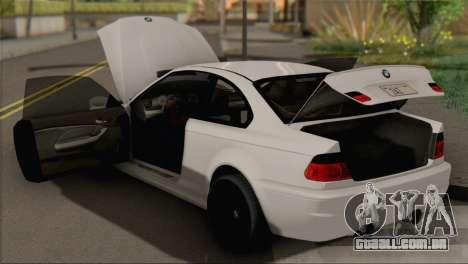 BMW M3 E46 Black Edition para GTA San Andreas vista direita