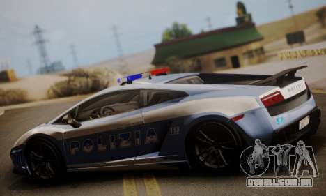 Lamborghini Gallardo LP 570-4 2011 Police v2 para GTA San Andreas esquerda vista