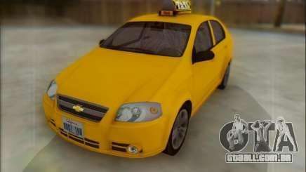 Chevrolet Aveo Taxi para GTA San Andreas