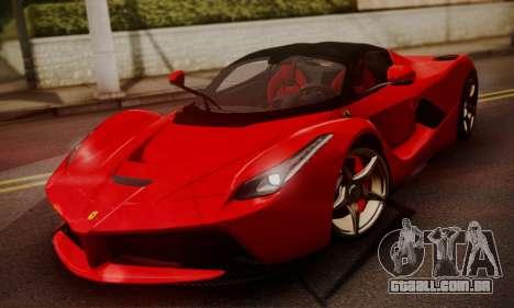 Ferrari LaFerrari F70 2014 para GTA San Andreas vista direita