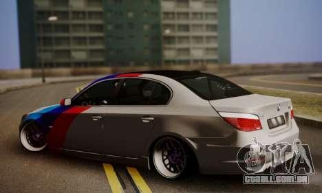 BMW M5 E60 Stance Works para GTA San Andreas esquerda vista