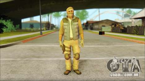 Arabian Resurrection Skin from COD 5 para GTA San Andreas