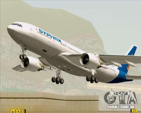 Airbus A330-200 Syphax Airlines para GTA San Andreas vista superior