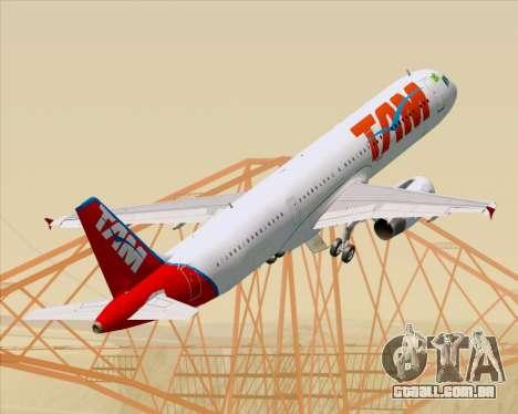 Airbus A321-200 TAM Airlines para as rodas de GTA San Andreas