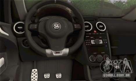 Opel Corsa para GTA San Andreas traseira esquerda vista