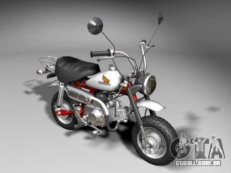 Honda Z50J Monkey para GTA San Andreas esquerda vista
