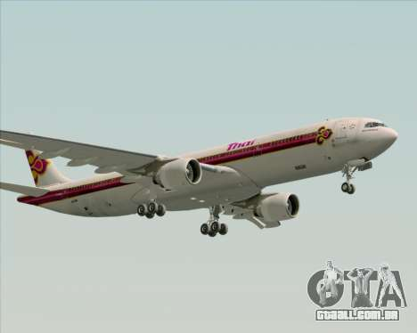 Airbus A330-300 Thai Airways International para GTA San Andreas vista inferior