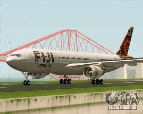 Airbus A330-200 Fiji Airways para GTA San Andreas esquerda vista
