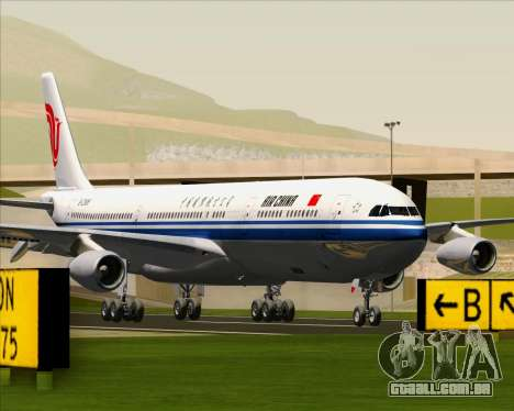 Airbus A340-313 Air China para GTA San Andreas traseira esquerda vista
