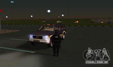 GMC Yukon XL ФСБ para GTA San Andreas vista interior
