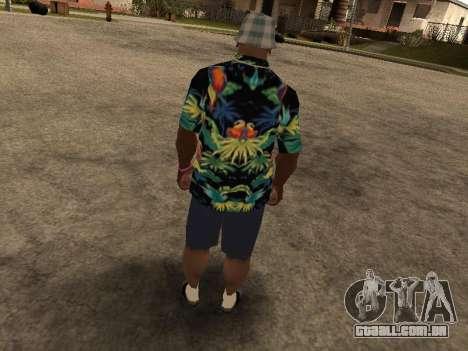 Camisa havaiana como max Payne para GTA San Andreas quinto tela