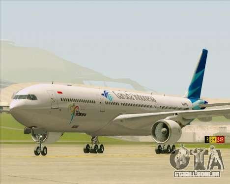 Airbus A330-300 Garuda Indonesia para GTA San Andreas esquerda vista
