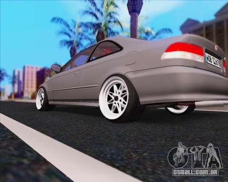 Honda Civic EM1 V2 para GTA San Andreas traseira esquerda vista