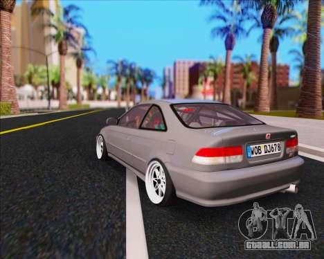 Honda Civic EM1 V2 para GTA San Andreas esquerda vista