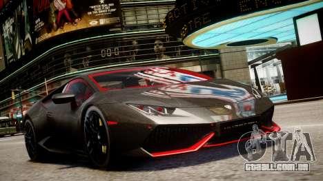 Lamborghini Huracan LP610-4 SuperTrofeo para GTA 4 traseira esquerda vista