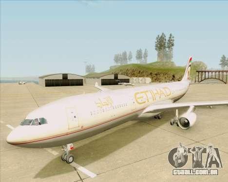 Airbus A340-313 Etihad Airways para GTA San Andreas vista superior